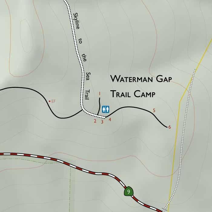 Waterman Gap Trail Camp on gap dayton map, gap bike path map, oklahoma atv trails map, fulda gap map, delaware water gap map,