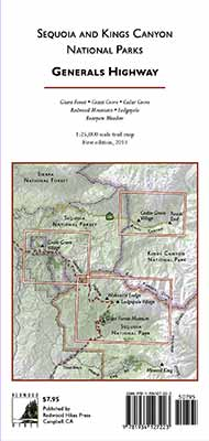 Sequoia and Kings Canyon National Park trail map